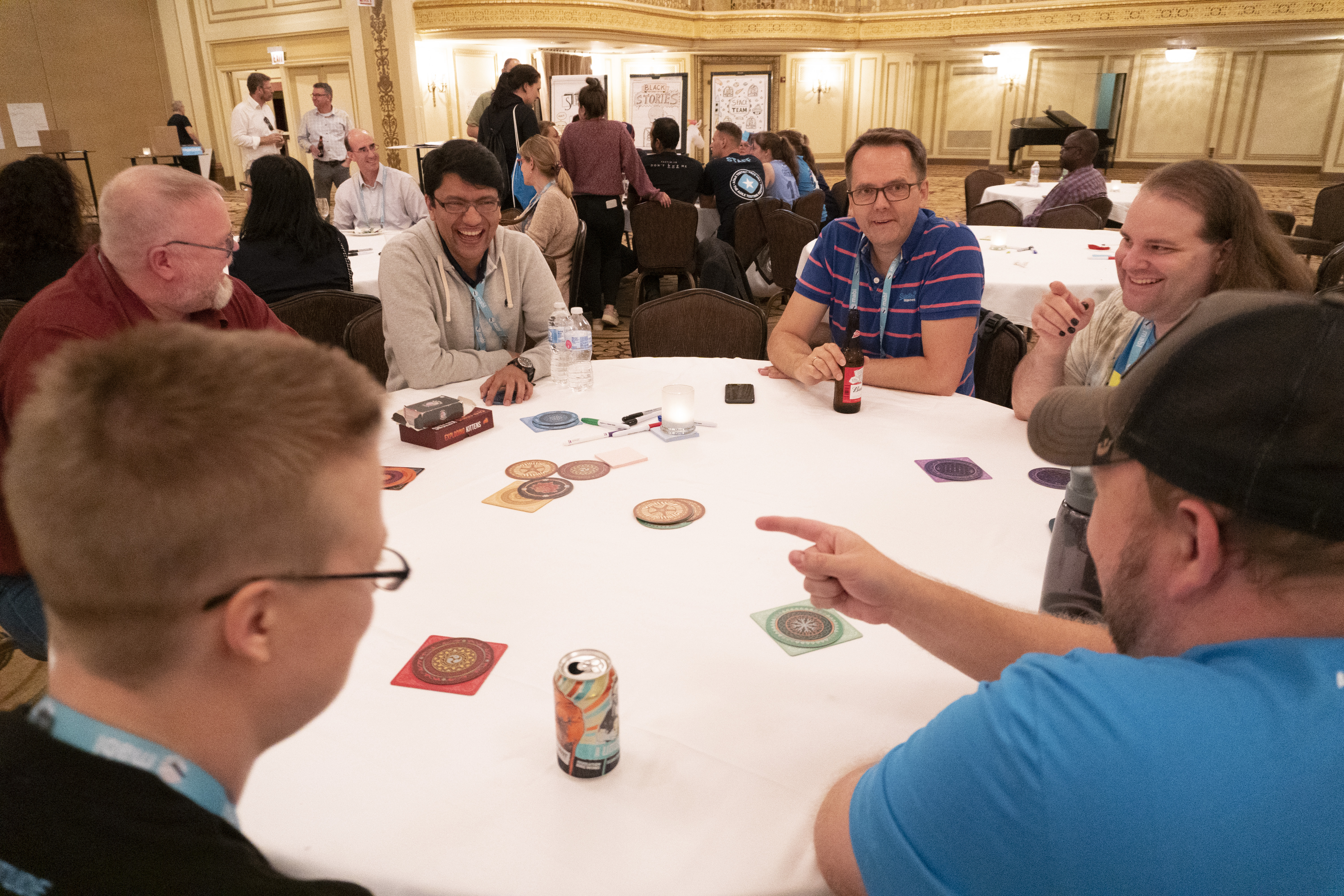 Games, networking and making new friends at the Agile Community Evening at Agile Testing Days USA 2019