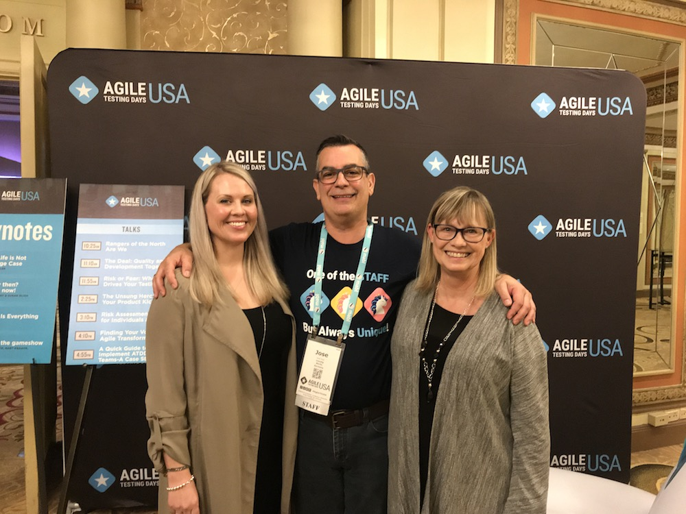 Keynoter speakers Susan Bligh and Janet Gregory at Agile Testing Days USA 2019