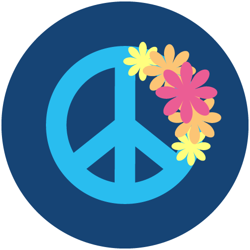 Flower Power Costume Party Icon